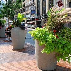Planters at Playhouse Square