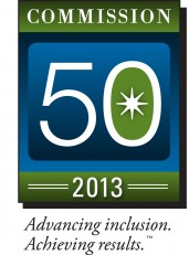 Commission 50 2013 logo