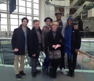 Beatriz with Verb dancers at Rock Hall - Spring 2015.bmp