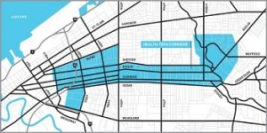 Cleveland Health Tech Corridor Map
