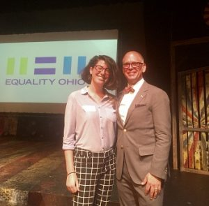 Gabrielle Maginn and Jim Obergefell at Equality Ohio event