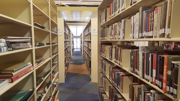 Cleveland Public Library book shelves