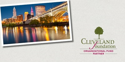 Organizational Fund Partner Appreciation graphic with Cleveland skyline and Cleveland Foundation logo