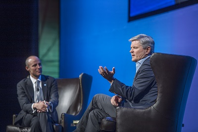 Dan Moulthrop and Steve Case onstage at Annual Meeting