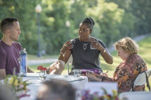 "The Cleveland Heights - University Heights School District hosted a community conversation at Cain Park that sought to find commonality in the definitions of ""equity,"" ""resilience,"" and ""support"" for students."