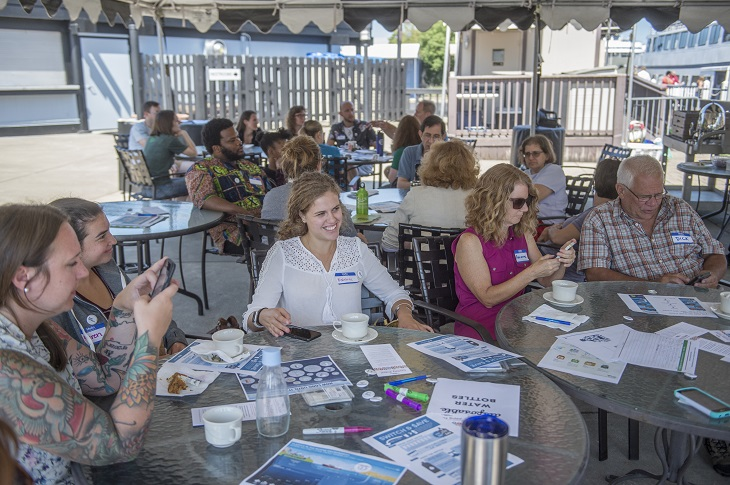 Sustainable Cleveland hosted at conversation at the Greater Cleveland Aquarium focused on how we can reduce single-use disposable plastics.