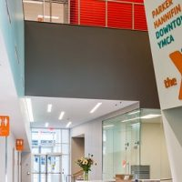Image of reception desk at Downtown Cleveland YMCA