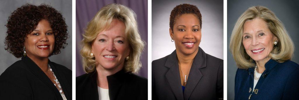 Headshots of four women leaders