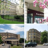 four images of Fairhill partner's building