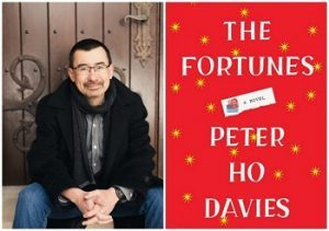 Image of Peter Ho Davies next to his book cover art for The Fortunes