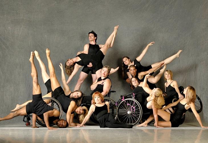 Dancing Wheels dancers pose in group