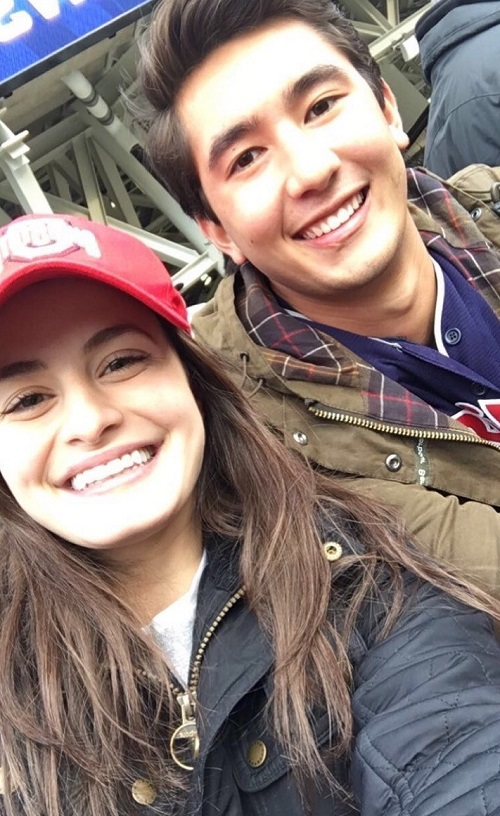 Tabitha and a friend at an Indians game