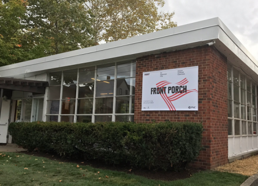 Building facade of the FRONT Porch at PNC Glenville Arts Campus