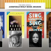 Book covers and portraits of this year's anisfield wolf winners