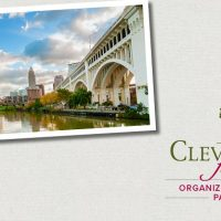 A graphic with Cleveland skyline from river and Cleveland Foundation logo