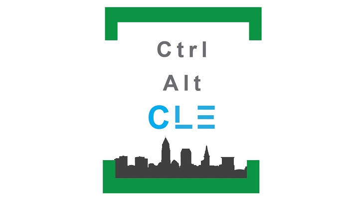 Ctrl Alt CLE logo includes name and Cleveland skyline