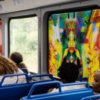 image of painting on train car window